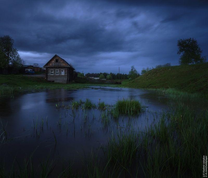 вечер, облака, тучи, ручей, поселок, яйва, пермский край Под хмурым небомphoto preview