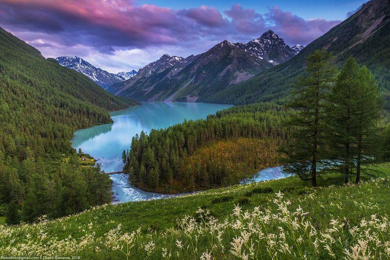 алтай, сибирь, кучерлинское озеро, вечер, закат, лето Вечер на Кучерлинском озереphoto preview