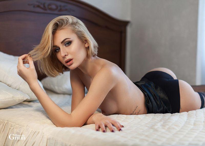 ню, блондинка, постель, кровать, девушка, ню Anastasiaphoto preview