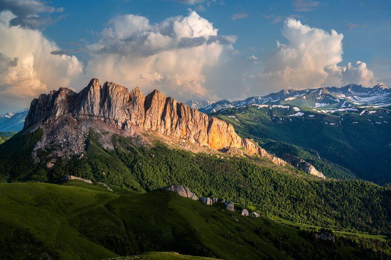 ачешбоки, чертовы ворота, адыгея, большой тхач, горы, закат Золото Ачешбоков.photo preview