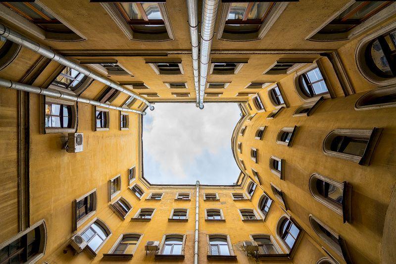 питер колодец архитектура urban городской пейзаж Питерские дворы-колодцыphoto preview
