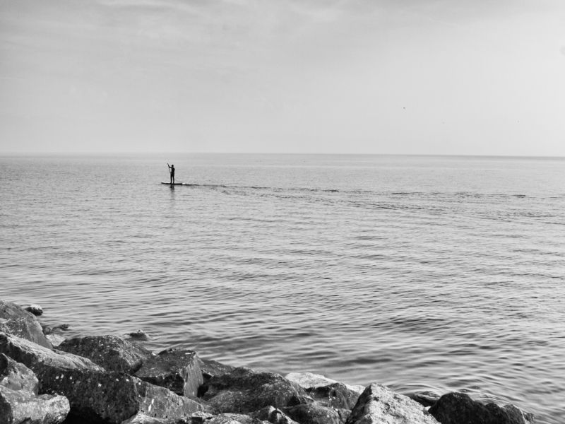 Loneliness, Calm, Monochrome, Black and white, Alone, Lausanne, Switzerland Midday sailingphoto preview