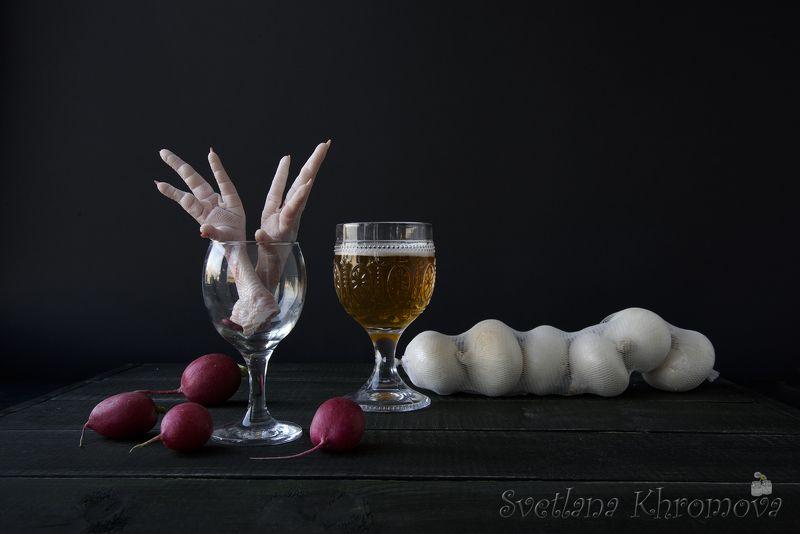 куриные лапы, футбол, лук, редиска Ужин вратаряphoto preview