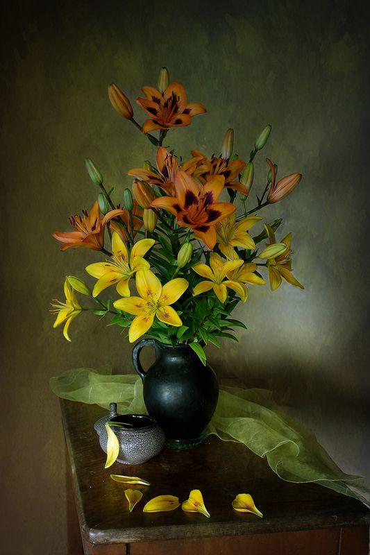 лилии,цветы,вера павлухина ,натюрморт,лето, Лилииphoto preview