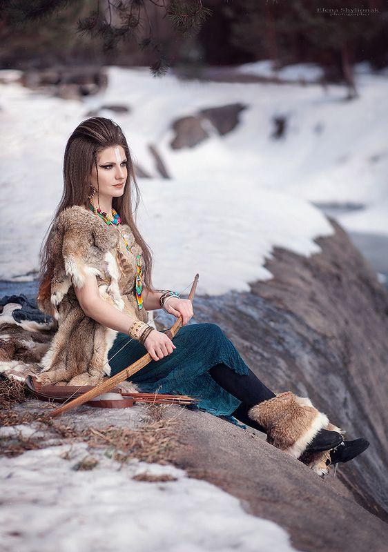 savage, snow, winter, mountains, tribe, fur, снег, зима, горы, племя savagephoto preview