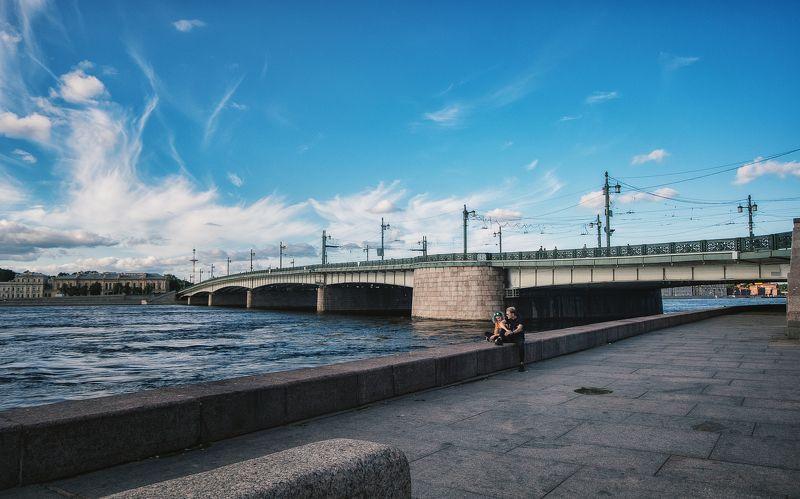 небо, небеса, bluesky, пара, прогулки, город, мосты Под небом голубымphoto preview