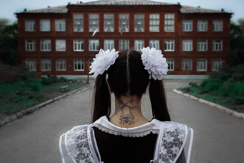 schoolgirl, school, call, final, last call, prison, term, conclusion, art, От звонка до звонкаphoto preview