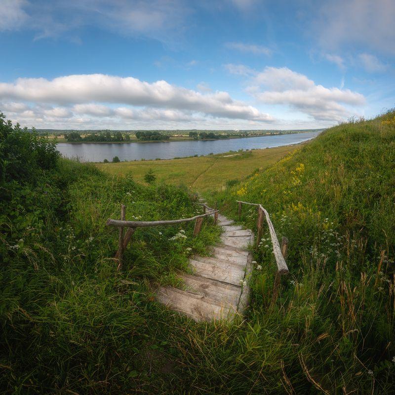 пейзаж панорама лестница лето день латвия Даугаваphoto preview