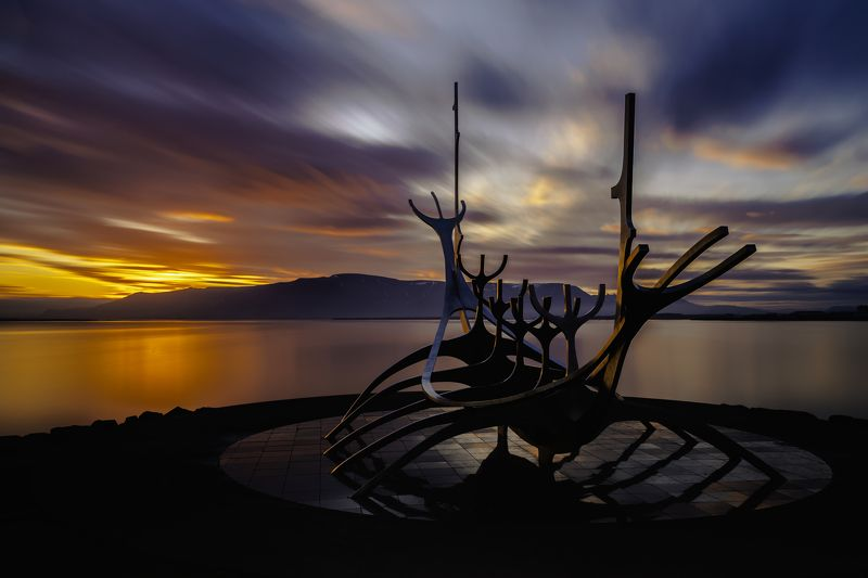 reykjavik,iceland,sun voyager,закат,sunset, endless road to the sun....photo preview
