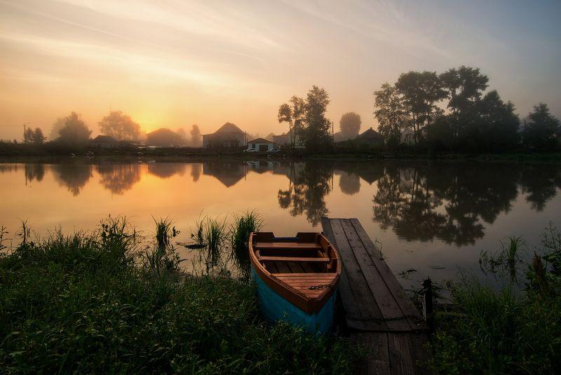утро,Россия,Вятка,природа Утро, наполненное волшебным мягким солнечным светом и лёгким туманом.photo preview
