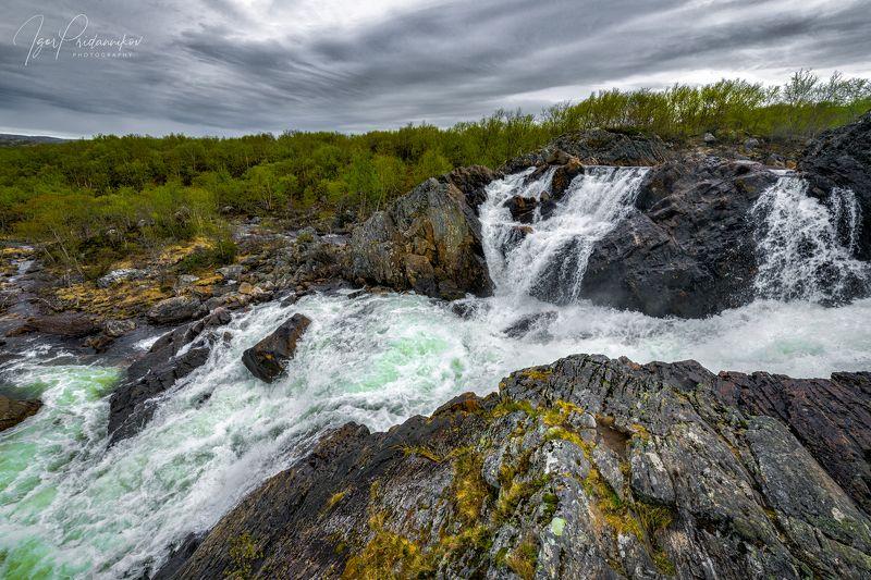 рыбачий, водопад, скалы, photo preview