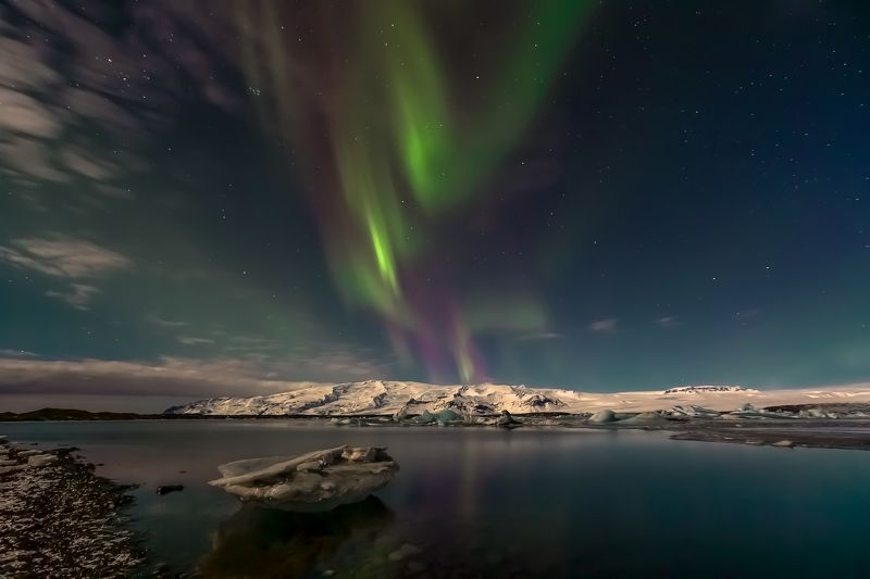 glacier lagoon,iceland,aurora,glacier, ...photo preview