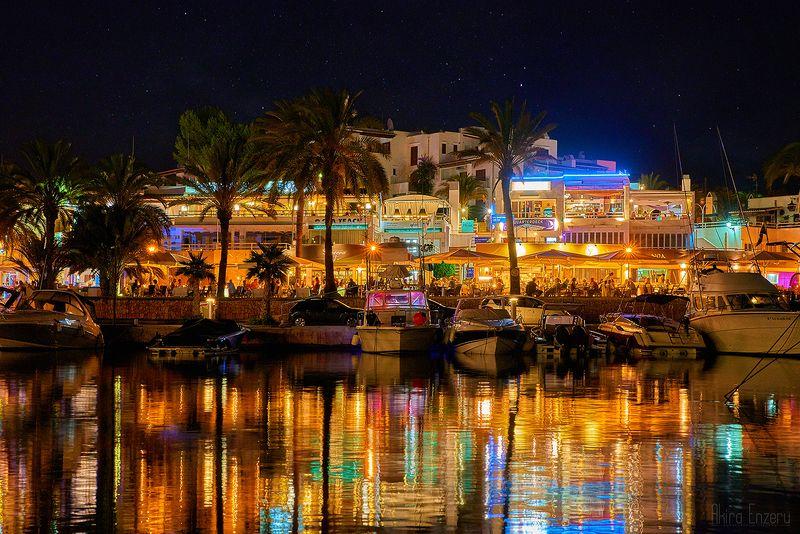 night, landscape Colors of Palma de Mallorcaphoto preview
