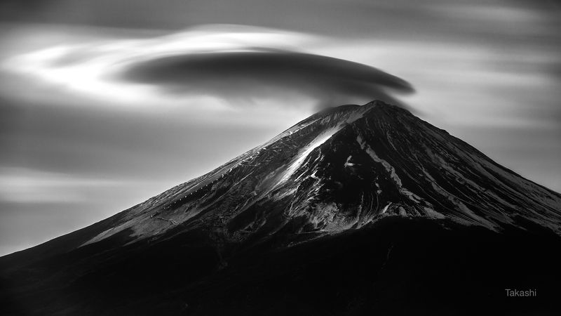Fuji,Japan,mountain,winter,cloud, Regent style cloudphoto preview