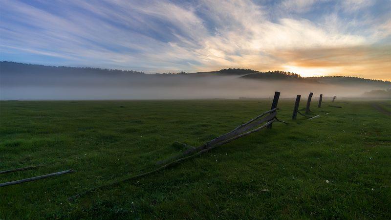 утро, рассвет, восход, туман Рассвета.нетphoto preview