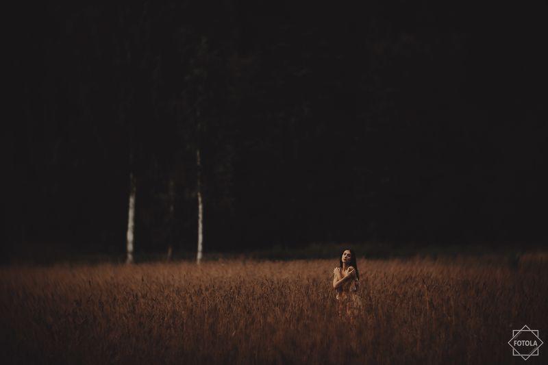 portaiture, female, model, evening, golden  hour,  портрет, женщины, вечер In the evening fieldsphoto preview