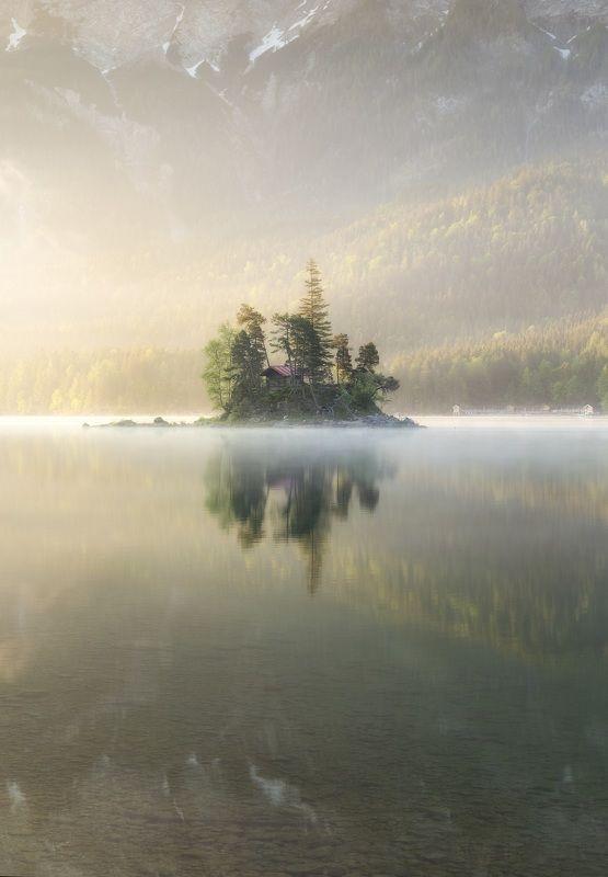 Германия, рассвет, озеро *******photo preview