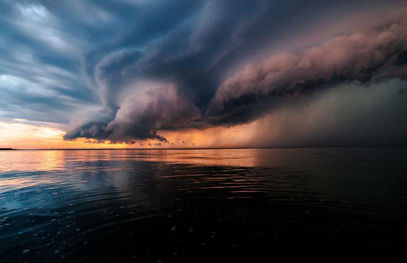 лето, шторм, гроза, буря, облока, закат Перед штормомphoto preview
