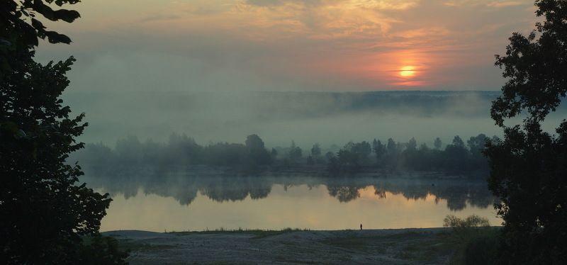 пейзаж, беларусь, рассвет, рыбалка Встречая утроphoto preview