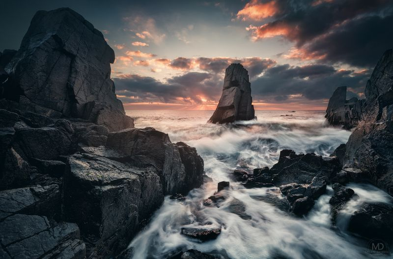 Landscape, Bulgaria, sunrise, rocks, Black sea ***photo preview