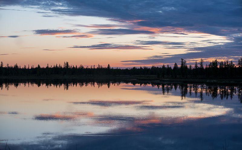 отражение, небо, природа, облака Отражениеphoto preview