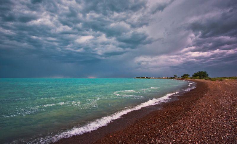 озеро, балхаш, закат, рассвет, лодка, тучи На озере Балхашphoto preview
