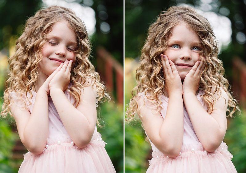 дети, девочка, улыбка, лето Маленькая мечтательницаphoto preview