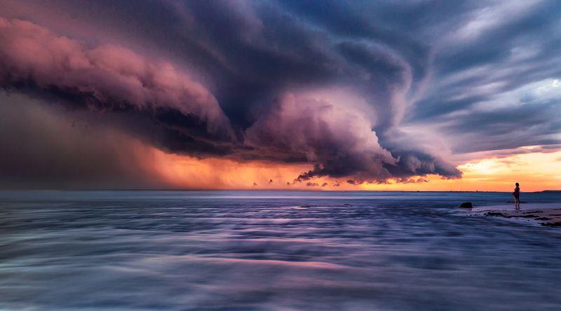 гроза, вода, лето, человек, буря, Лицом к лицуphoto preview