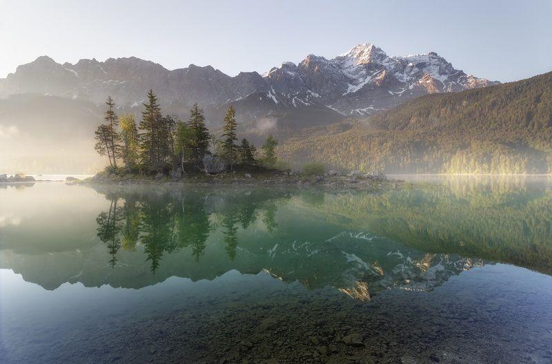 Озеро, Германия, Бавария, Айбзее Островphoto preview