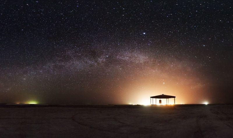 ночь, млечный путь, звёзды ночь в природном парке Эльтонphoto preview