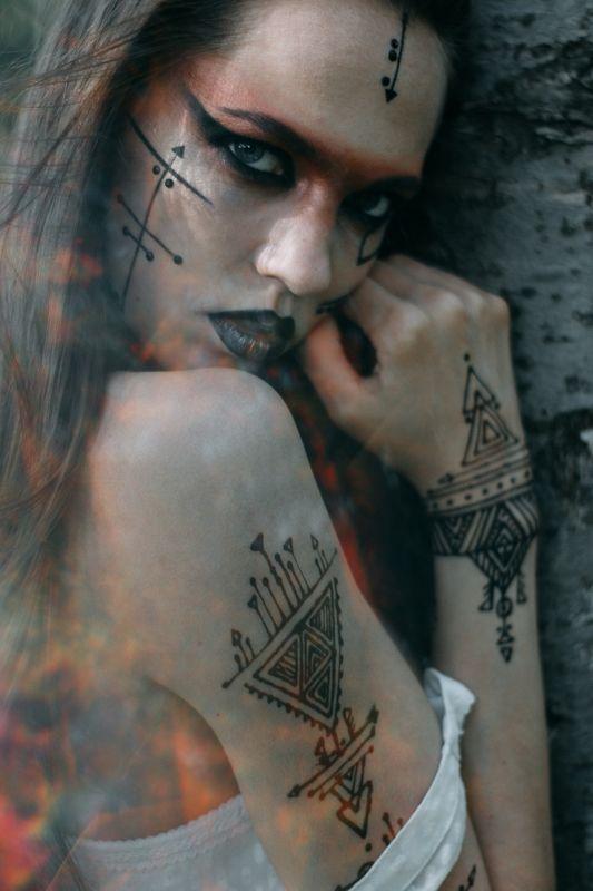 девушка, ведьма, природа, мехенди Натальяphoto preview