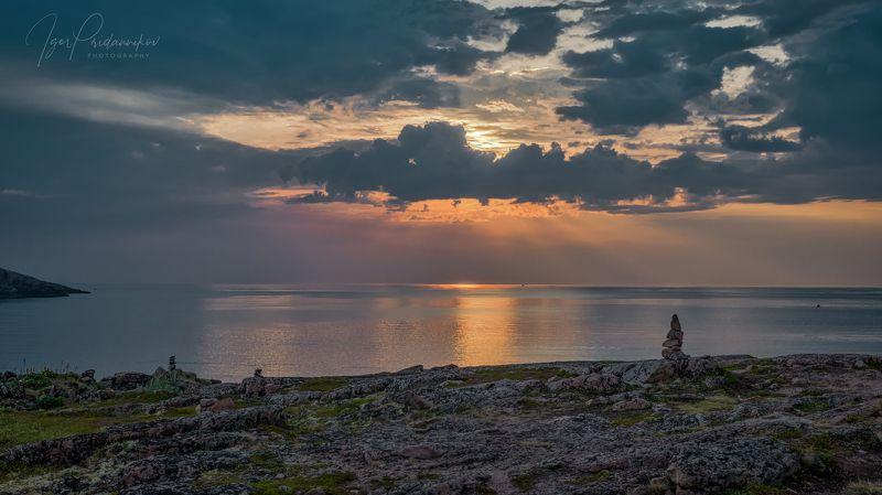 териберка, океан, север, море, скалы, закат На берегу студёного океанаphoto preview