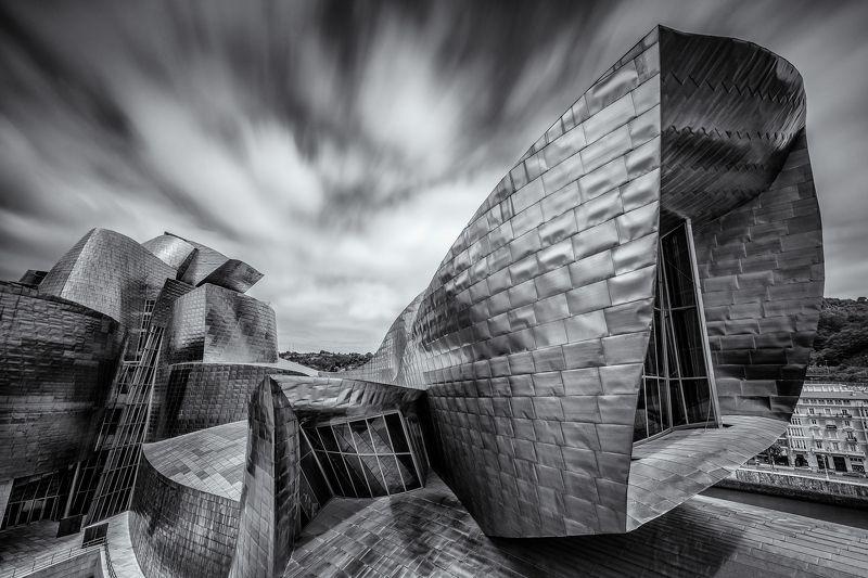 Bilbao, España, Spain, Europe, Guggenheim, Museum, LongExposure, Long, Exposure,  SPACESHIPphoto preview