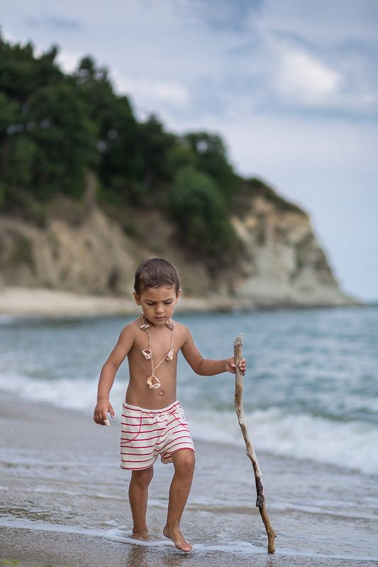 beach, summer, boy, bulgaria, kid, little, nessebar, outdoors, island, summer The islanderphoto preview