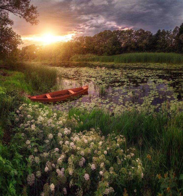 Июльский закат на Усманке, село Новая Усманьphoto preview