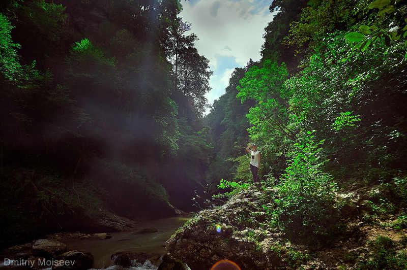 гуамка, гуамскоеущелье, краснодар, горы, реки, скалы, girl, природа, ущелье *******photo preview