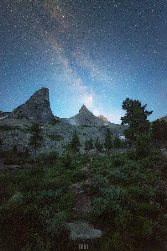 ергаки, пейзаж, горы, ночь, россия, Ночная прогулкаphoto preview