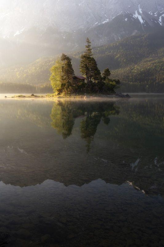 Озеро, германия, рассвет, утро Утро на озере Айбзее. Германияphoto preview
