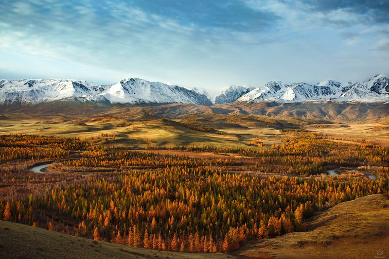 алтай, осень, горы Золотой час / Altaiphoto preview