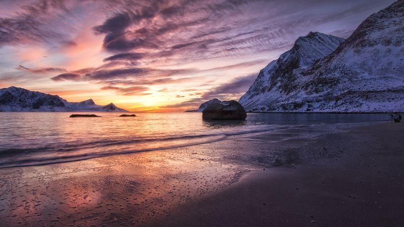 закат,море,горы,фотограф,удача. Одинокий фотограф.photo preview