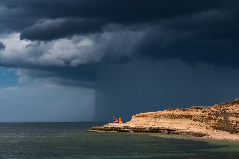 крым, море, черное море, стихия, непогода, дождь, ливень, лето, пейзаж, путешествия, туризм, россия, лето в крыму Сила стихииphoto preview