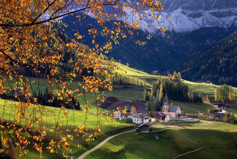 Золотая осень Доломит фото превью