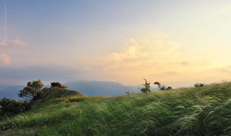 демерджи, закат photo preview