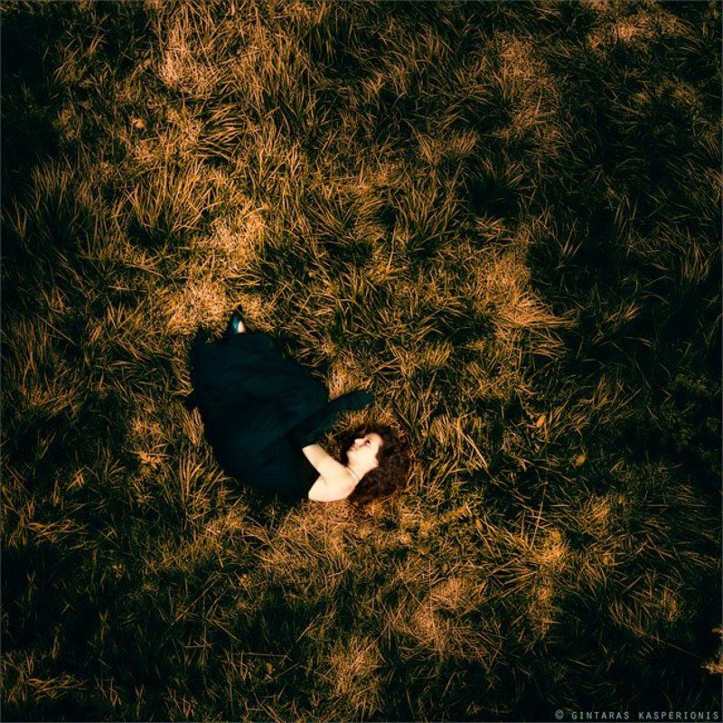 woman, girl, art, arts, toned, toning, square, mono, 1x1, kasperionis, grass, photography, original In The Fallphoto preview