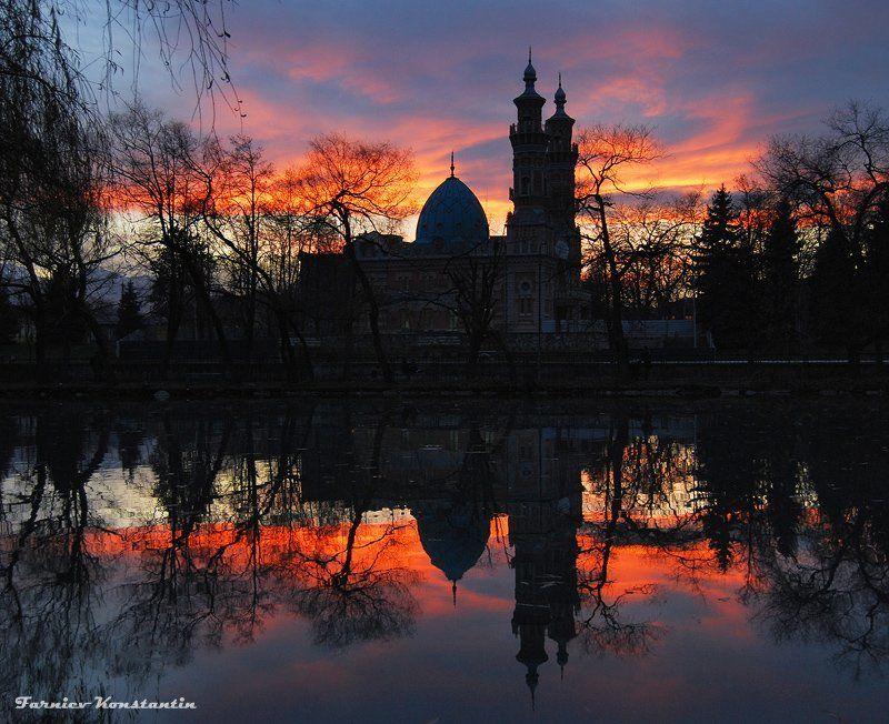 мечеть, сунитская мечеть, владикавказ, vladikavkaz, osetia, mosque, закат photo preview