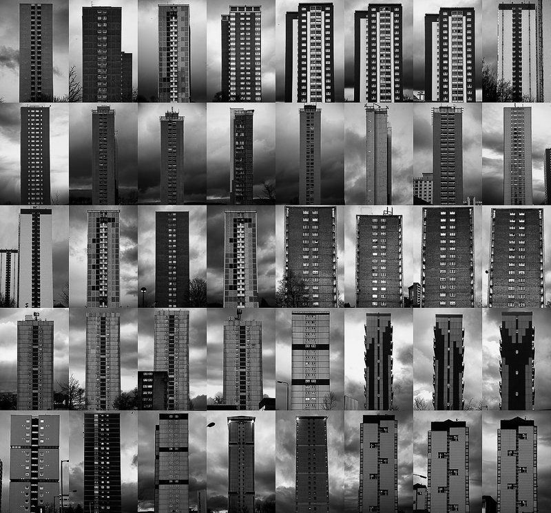 glasgow, uk, tower blocks, apartments, libing sapces, 2011, work in progress, monoliths of our time photo preview