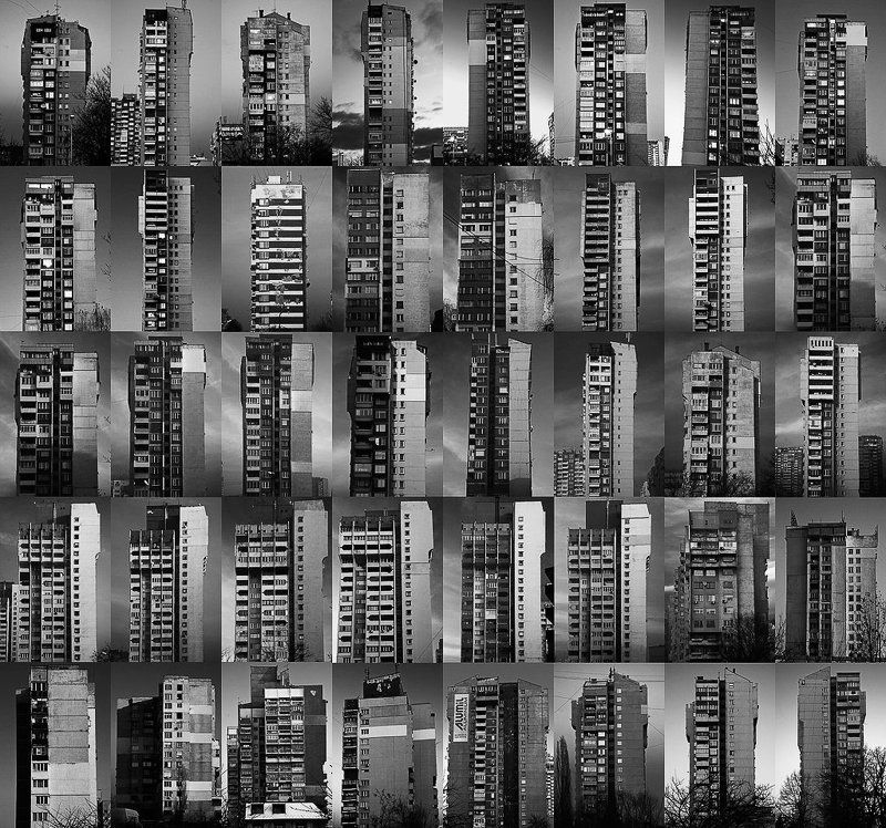 sofia, bulgaria, tower blocks, monoliths of our time, work in progress, apartments, living spaces photo preview