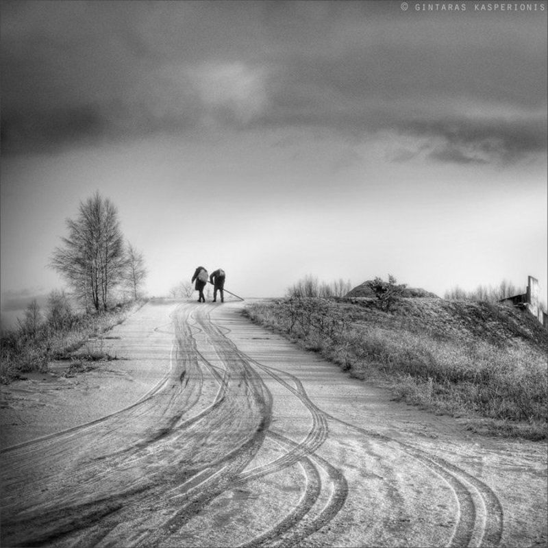 children, mono, 1x1, art, arts, photography, kasperionis, bw, b&w, lithuania, original, sky, hdr, nature, winter, snow Meandersphoto preview