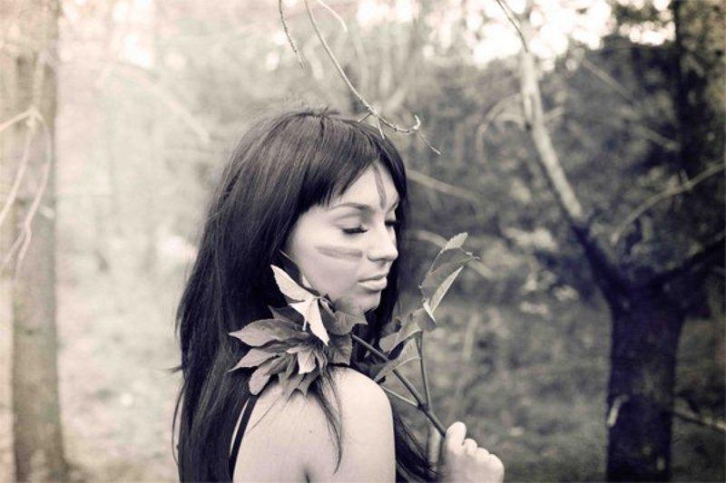 амазонка, девушка, портрет, bw photo preview