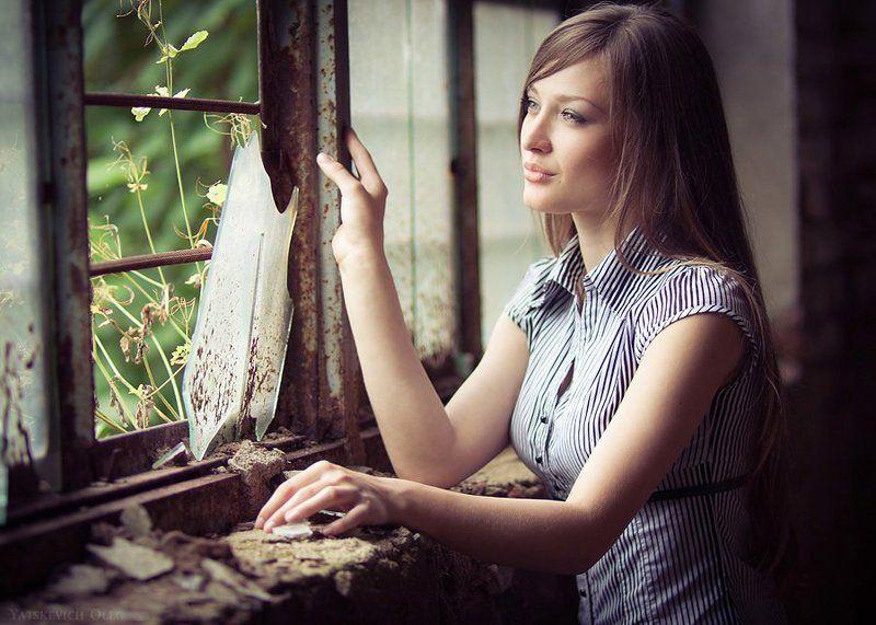 окно, даша, девушка, портрет, стекло ***photo preview